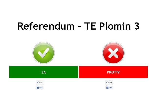 "Online referendum ""za"" ili ""protiv"" Termoelektrane Plomin 3 + upute"