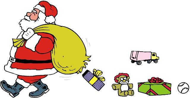 Djed Mraz dijeli pakete