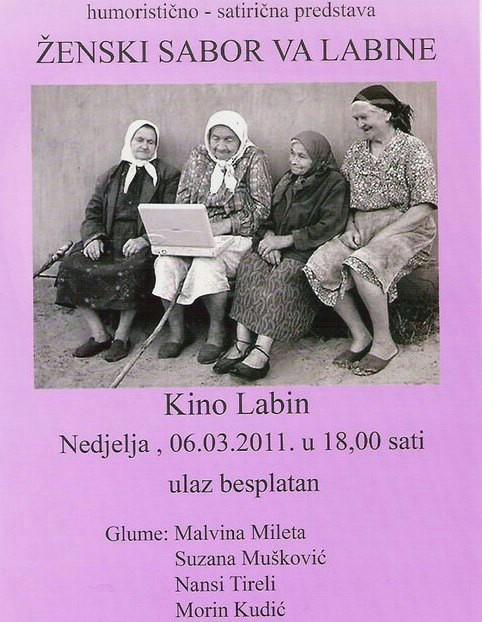 U nedjelju Humoristično-satirička predstava: Ženski sabor va Labine