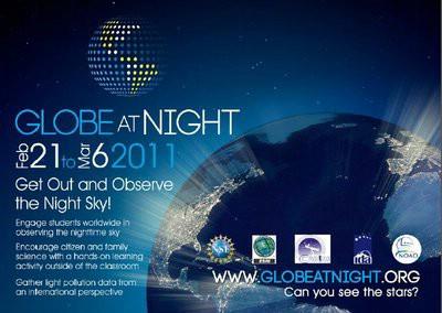 Globe at night projekt: Labinština  umjereno svjetlosno onečišćena