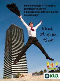 Labin: Poziv na predavanje `Uvod u poduzetništvo i programi EU fondova za mlade`