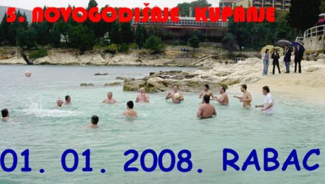 Najava jubilarnog 5. novogodišnjeg kupanja u Rapcu