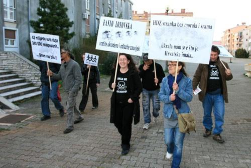 Labinski protuvladin prosvjed zbog lošeg odaziva nije s održao