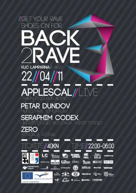 Back2Rave Novosti: Nagradna igra (4 x 1 ulaznica)