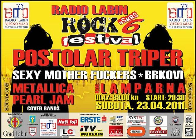 Labin Uskrs Rock Festival vol. 6 - headline Postolar Tripper - 23. 4. 2011. @ KuC Lamparna