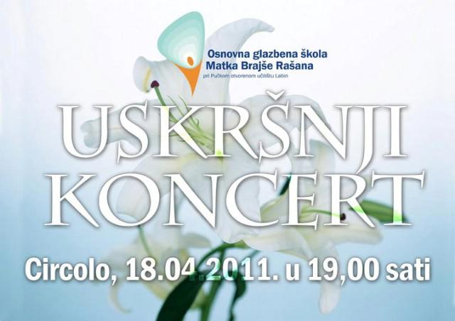 Najava: Danas Uskršnji koncert učenika OGŠ Matka Brajše Rašana pri Pučkom otvorenom učilištu Labin