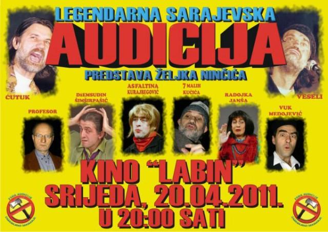 Predstava `AUDICIJA` @ Kino `Labin`, srijeda 20.4.2011.