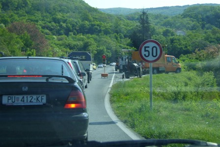 Promet za Rabac reguliran semaforima