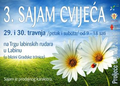 Sutra treći Sajam cvijeća u Labinu