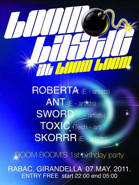 1st Boombastic party @ Boom Boom Girandela Rabac, subota 07. 05.