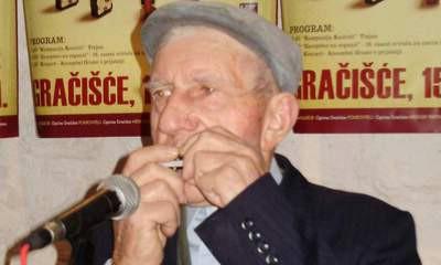 Jakov Bastijanić (85) iz Vineža najstariji svirač na 16. susretu svirača na usnim harmonikama -  Zasopimo na organić u Gračišću