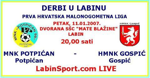 LIVE prijenos 1.HMNL danas od 20:00 sati www.labinsport.com