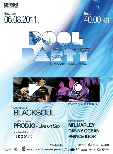 Najava: Pool party @ Girandella beach - Rabac 6.8. 2011
