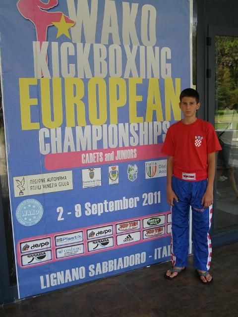 Marino Faraguna na Europskom Prvenstvu u kickboxingu ostao bez medalje