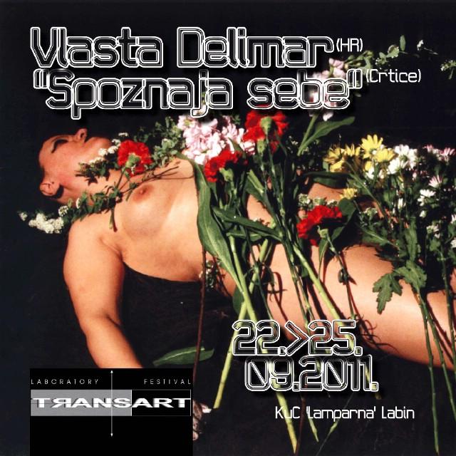 """Izložba Vlaste Delimar """"Spoznaja sebe"""" (Crtice) @ KuC Lamparna u sklopu manifestacije TRANSART 2011– Istarski transdisciplinarni umjetnički festival i laboratorij"""""""