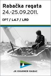 Rabačka regata, 24.-25. rujan 2011., Optimist, Laser 4.7 i Laser Radial