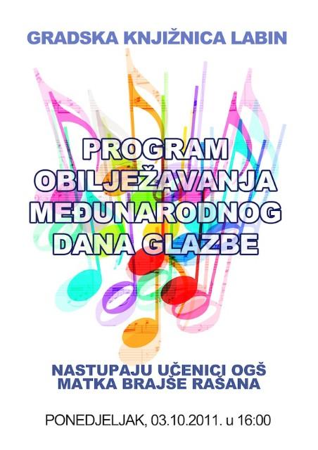 Program obilježavanja Međunarodnog dana glazbe u Gradskoj knjižnici Labin