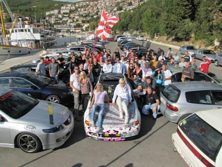 Ljubitelji Honda na okupljanju u Rapcu