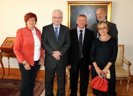 Mirjana Diminić i Vlado Štifanić na prijemu kod Predsjednika dr. Ive Josipovića
