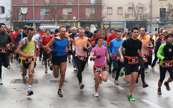 Pobjeda Barbare Belušić u 1. kolu 6. Istarske zimske lige u trčanju