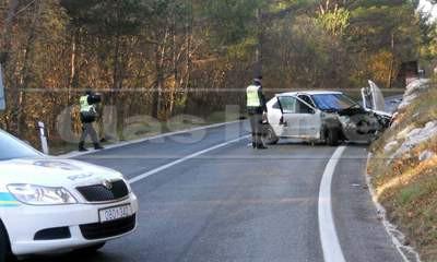 Prometnica Labin - Vozilići - sletio s ceste