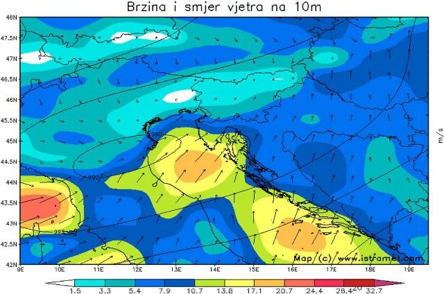 U noći na subotu stiže zahlađenje uz snijeg samo u najvišim dijelovima Istre