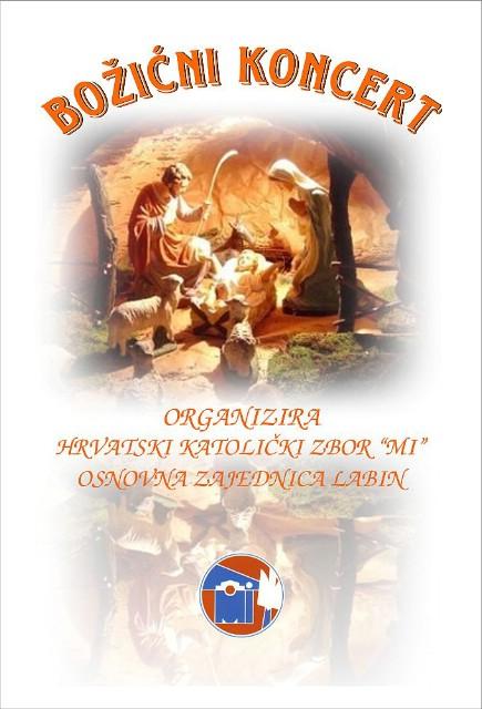 """Božićni koncert u organizaciji Hrvatskog katoličkog zbora """"Mi"""""""
