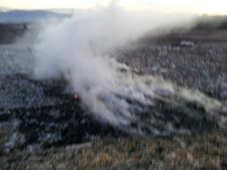 Požar na deponiji komunalnog otpada Cere