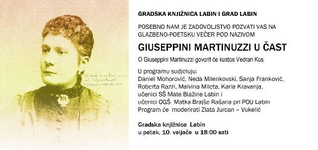 Danas glazbeno poetska večer `Giuseppini Martinuzzi u čast`