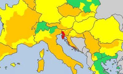 Upozorenje Meteoalarma: Istra jedina u opasnosti od vremenskih neprilika