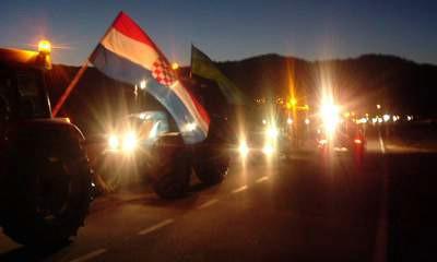 Istarski mljekari blokirali cestu tunel Učka - Labin