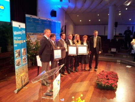 "Gradonačelnik Grada Labina i njegova zamjenica na svečanoj dodjeli nagrade ""Europski tjedan mobilnosti 2011."" u Bruxellesu"
