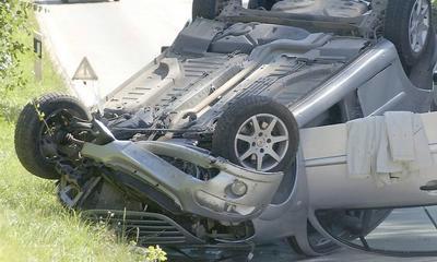 Raša: Lakše ozlijeđen u prevrtanju automobila