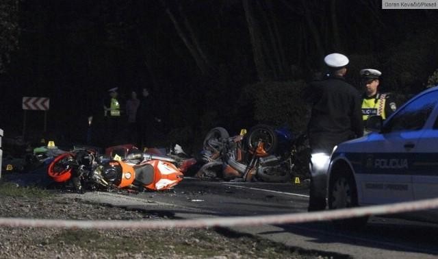 Labinski motociklist K.Miletić (30) poginuo u strašnoj prometnoj nesreći u mjestu Kraj kod Mošćeničke Drage