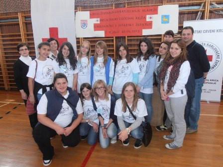 Mladi članovi Crvenog križa Labin zauzeli 5. i 6. mjesto na Međužupanijskom natjecanju mladeži u Slunju