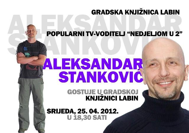 Poznati novinar Aleksandar Stanković gostuje u srijedu u Gradskoj knjižnici Labin