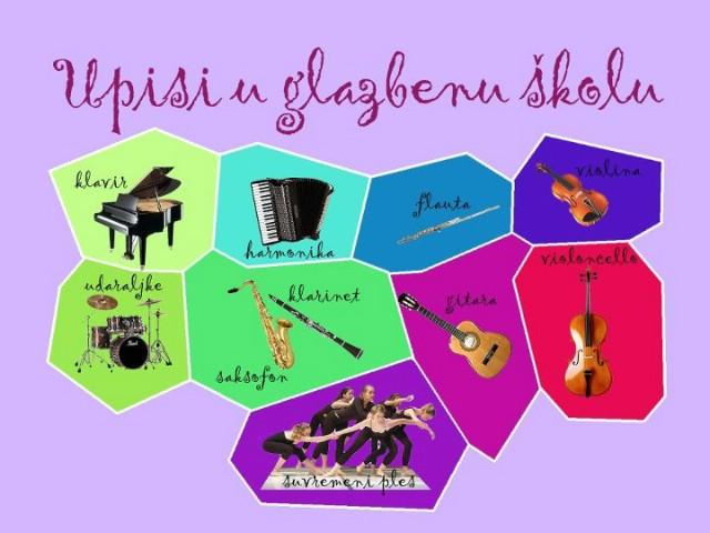 Poziv na upis u labinsku Osnovnu glazbenu školu - upoznajte naše instrumente - od iduće šk. god. učite i violoncello i suvremeni ples