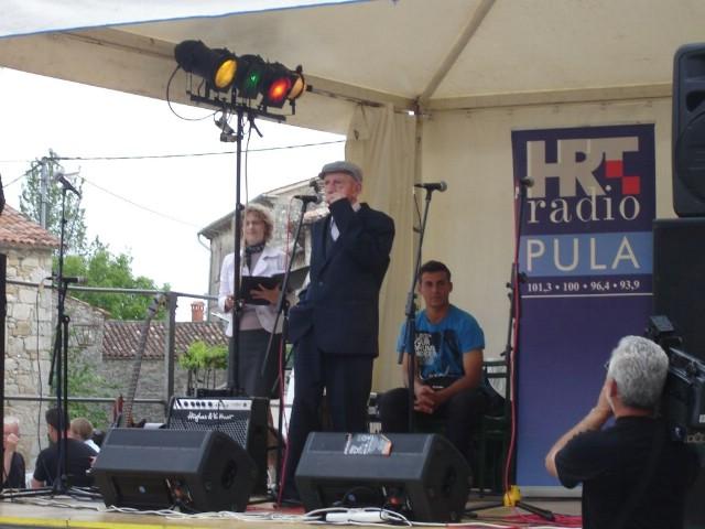 Jakov Bastijanić najstariji sudionik manifestacije `Zasopimo na organić` u Gračišću