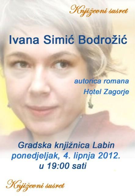 [Poziv] U Gradskoj knjižnici Labin gostuje prozaistica i pjesnikinja Ivana Simić Bodrožić
