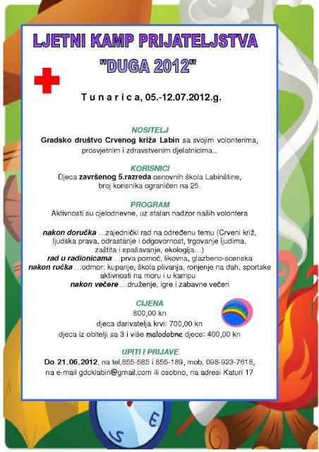 """Najava: Ljetni kamp prijateljstva """"Duga 2012″"""
