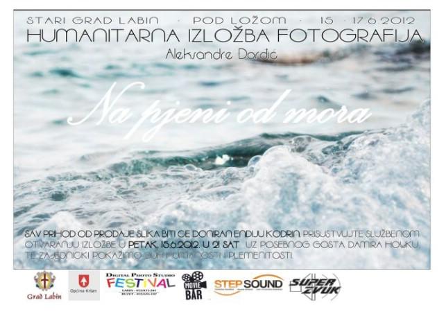 [Najava] Ispod Lože humanitarna izložba `Na pjeni od mora` labinjanke  Aleksandre Đorđić sa specijalnim gostom Damirom Hoykom