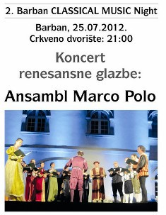 Večeras drugi Barban Classical Music Night