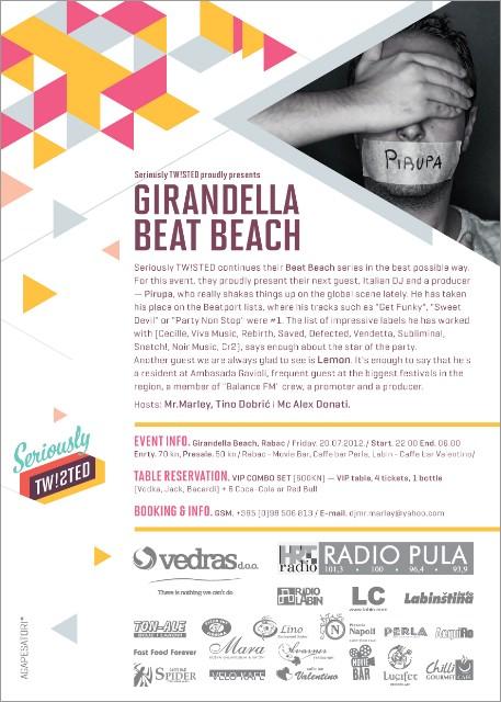 GIRANDELLA BEAT BEACH/beat.02 w/ PIERO PIRUPA @ Girandella Beach, Rabac 10.08.2012.