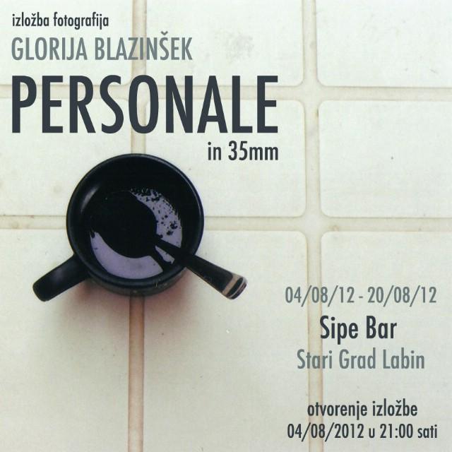 "Otvorenje izložbe ""Personale in 35mm"" Glorije Blazinšek @ Sipe bar gallery"