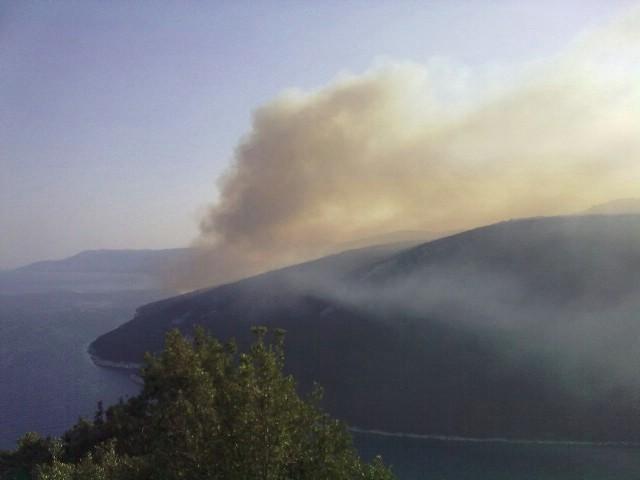 U jučerašnjem požaru na obroncima Ripende izgorjelo između 20 i 30 hektara bjelogorice i niskog raslinja