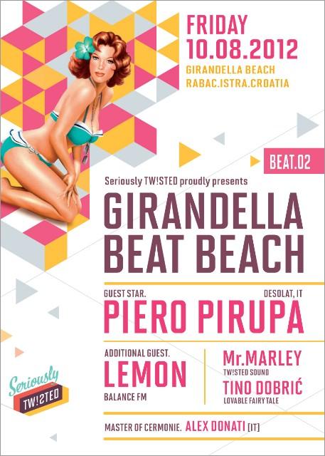 Večeras: GIRANDELLA BEAT BEACH/ BEAT.02 W/ PIERO PIRUPA @ GIRANDELLA BEACH, RABAC