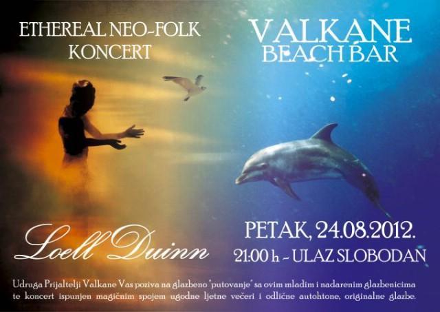 Kulturno umjetnički event s labinskom skupinom LOELL DUINN 24.08. na Valkanama