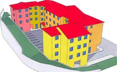 Poslovno-stambena zgrada umjesto parkirališta