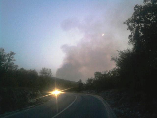 U sinoćnjem požaru na potezu Salakovci – Gora Glušići izgorjelo 20 hektara niskog raslinja i bjelogorice