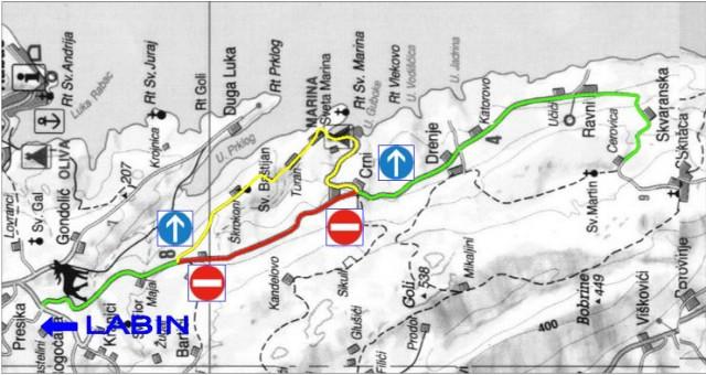 [Obavijest]  Počinje izgradnja glavnog cjevovoda vodoopskrbe i polaganje elektrokablova na području naselja Škrokoni-Crni-Drenje-Ravni  - Mole se za sudionici prometa na oprez i razumijevanje